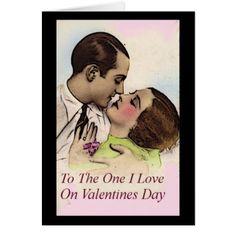 One I Love On Valentines Day Greeting Card - Saint Valentine's Day gift idea couple love girlfriend boyfriend design