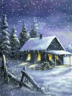 Download Animated 240x320 House In Snow Cell Phone Wallpaper Category Nature