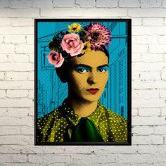 Frida Pop Art Pop Art Portrait Pop Art poster by giftsforloved 602a00f552bb