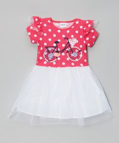 Look what I found on #zulily! Red Polka Dot Bicycle Dress - Infant, Toddler & Girls by Nova #zulilyfinds