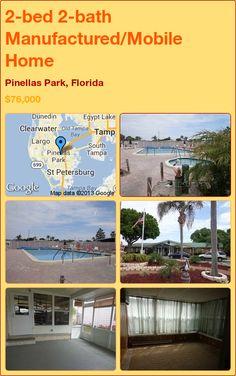 2-bed 2-bath Manufactured/Mobile Home in Pinellas Park, Florida ►$76,000 #PropertyForSale #RealEstate #Florida http://florida-magic.com/properties/7418-manufactured-mobile-home-for-sale-in-pinellas-park-florida-with-2-bedroom-2-bathroom