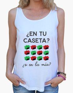 Camiseta mujer ¿En tu caseta o en la mía? Edición Feria de Sevilla