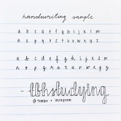 """here's a handwriting sample with both printed and cursive! this was written with a black uniball signo in mm. how to do the cursive font like """"tbhstudying"""" : double the downstrokes on your cursive letters, but don't shade them in. just leave th Handwriting Examples, Learn Handwriting, Pretty Handwriting, Improve Your Handwriting, Handwriting Analysis, Handwriting Styles, Cursive Letters, Calligraphy Handwriting, Penmanship"""