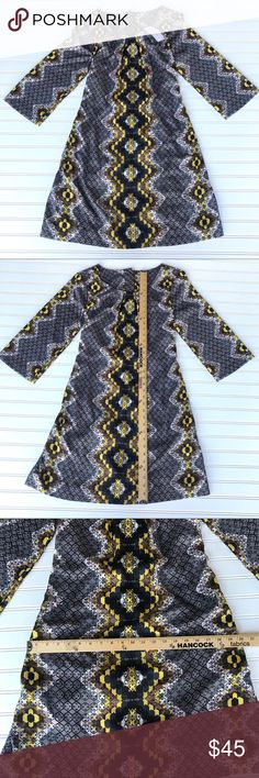 NWT Uncle Frank Dress, Black & Yellow, L NWT Uncle Frank Dress Geometrical eye catching pattern Embellished with beautiful buttons in back!  Has option of black belt.  Black, White, Yellow Size L Check out my other listings for bundle deals! Thanks for looking! Uncle Frank Dresses