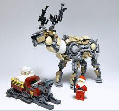 Rudolph the rad-fuelled reindeer Lego Ornaments, Lego News, The Brethren, Legos, Reindeer, Clock, Fun, Gifts, Watch