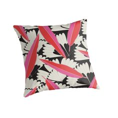 """""""B&W Floral"""" Throw Pillow http://www.redbubble.com/people/angeflange/works/12690725-bandw-floral?p=throw-pillow"""