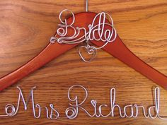 Hanger Bride Top, Personalized Custom Bridal Hanger, Brides Hanger, Bride, Name Hanger, Wedding Hanger, Personalized Bridal Gift