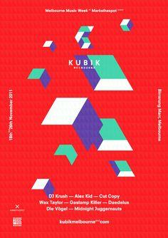 Campaign Poster Design Kubik - graphic <b>campaign design</b> by simon bent
