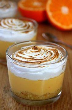 Crème de mandarine meringuée