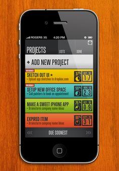 press 20 Beautiful Mobile UI Screenshots | Part #1