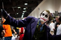 One of the many characters to appear at the function as an actor playing a superhero.  The infamous Joker ...