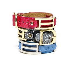 Hayden-Harnett cuff bracelets in brights for spring