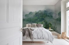 Natuur Behang Slaapkamer : Wallpaper flamingo pink van lilipinso bypaula behang pinterest