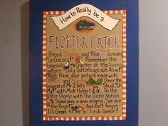 How to be a Florida Gator