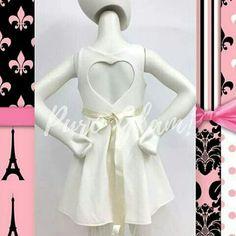 Vestido espalda corazón Glam girl vestido de fiesta nena con lazo Shabby chic Puro Amor puro estilo PURO GLAM