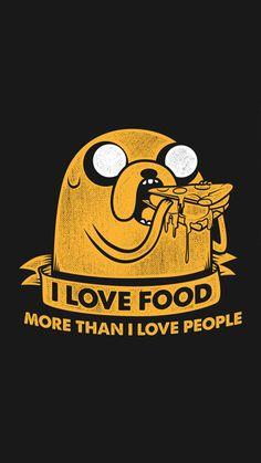 Jake - I Love Food More Than People iPhone 6 / 6 Plus wallpaper