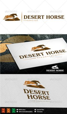 Desert Horse Logo Template  #GraphicRiver         Bold, strong, reliable logo, suitable for powerful companies, horse breeders, horse racing or horce racing bet agencies.   Layered files, 100% vector.   Font used: Jasmine UPC Regular and Jasmine UPC Bold.   You can find them here:  .ascenderfonts /font/jasmineupc-family-4-fonts.aspx   Files are Adobe CS and Corel 11 compatible.     Created: 10September11 GraphicsFilesIncluded: VectorEPS #AIIllustrator #CorelDRAWCDR Layered: Yes…