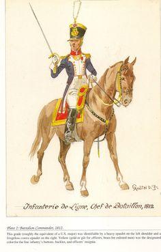 French; Line Infantry, Chef de Battalion, 1812