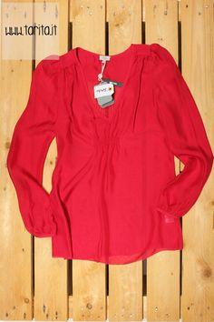 Tarita S/S 2013.  Hoss Intropia, strawberry silk blouse.
