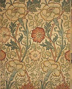 The above picture was created by William Morris. William Morris is commonly… William Morris Wallpaper, William Morris Art, Morris Wallpapers, William Blake, Arts And Crafts Movement, Motifs Art Nouveau, John Everett Millais, Motifs Textiles, Textile Prints