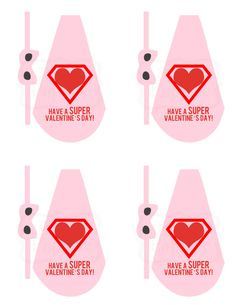 The Busy Budgeting Mama: My Girls' Super Hero Lollipop Valentines
