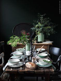 ATELIER RUE VERTE , le blog: Noël 2015 / Inspirations #12 / Une table rustique /