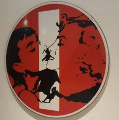 """Red"" #enamel on #streetsign #art #artwork #artgallery #florence #firenze"