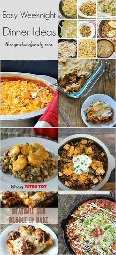 Easy Weeknight Dinner Ideas - check out these easy meals perfect for the school year. I Love Food, Good Food, Yummy Food, Tasty, Easy Weeknight Dinners, Quick Meals, Easy Dinner Recipes, Dinner Ideas, Supper Ideas
