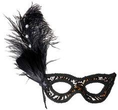 Máscara leopardo: Esta máscara de leopardo tiene plumas y purpurina, con un elástico para la sujeción. Es el accesorio ideal para completar tus disfraces temáticos. © Copyright...