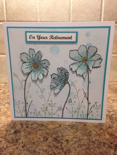 Doodle Flowers, Flower Doodles, Birthday Wishes, Birthday Cards, Happy Birthday, Altenew, Penny Black, Doodle Drawings, Flower Cards