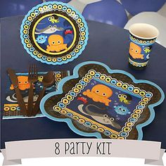 Under The Sea Critters - 8 Person Baby Shower Party Kit