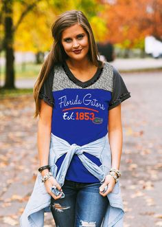 Florida Gator Girly tee! It's our take on a traditional 'football tee' and it's far more fabulous…