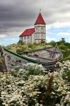 Kálfatjarnarkirkja, Iceland | The wedding boat is waiting fo… | Flickr
