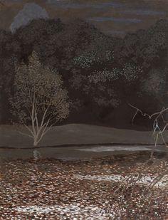 Léon Spillaert Paysage nocturne