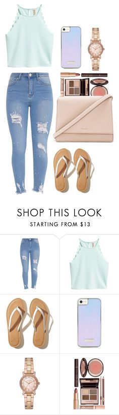 """""""Summer time"""" by themarisaolvera on Polyvore featuring Hollister Co., Michael Kors, Charlotte Tilbury and Kate Spade"""