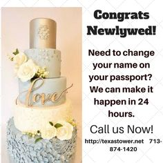 If you choose to change your name when you get married - remember the name on your passport must match your i.d.
