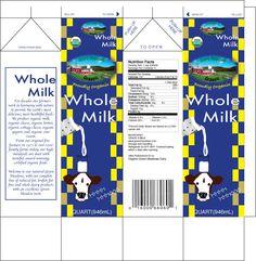 Printable Milk Carton Template   Milk carton for organic whole milk.