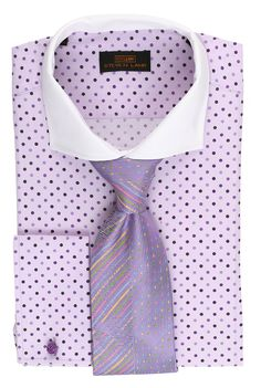 Steven Land Dress Shirt DS1546 | Lavender $69 #StevenLand #SpringCollection 100% cotton dress shirts classic fit