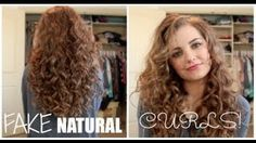 How To Fake Naturally Curly Hair! - YouTube