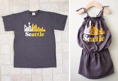 Men's Shirt to a 70's Dress http://livelovewear.com/kidsclothes