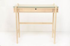 Console in maple and glass. Jakob Hartel