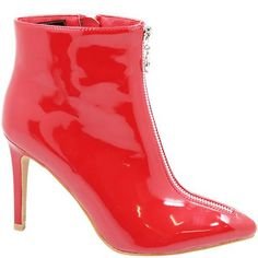 Jada Women's Patent Boots with Heels - Red   Buy Online in South Africa   takealot.com Jada, South Africa, Heeled Boots, Stiletto Heels, Peep Toe, Stuff To Buy, Shoes, Fashion, High Heel Boots