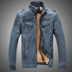 Cheap jacket blue, Buy Quality jackets for young men directly from China parka women jackets Suppliers: New Men Leather Jacket Fur Stand Collar PU Motorcycle Jaqueta Masculinas Inverno Couro Jacket Men Wadded fashion Casual Parka Pu Jacket, Men's Leather Jacket, Suede Jacket, Leather Men, Jacket Men, Jacket 2017, Lambskin Leather, Cashmere Jacket, Cargo Jacket