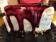 Graham Cracker crust, Cheesecake Ice Cream with Blueberry Swirl, Blueberry Topping Cheesecake Ice Cream, Ice Cream Pies, Graham Cracker Crust, Graham Crackers, Blueberry Topping, Hawaii Life, Panna Cotta, Ethnic Recipes, Food