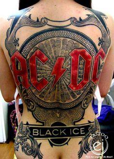 AC/DC tattoo.