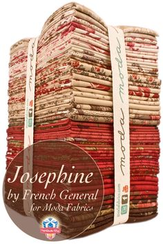 Elegant, sophisticated and decidedly French. Josephine by French General for Moda Fabrics. The Holy mother of all fabric! French General Fabric, French Fabric, French Country Fabric, Textiles, Fabric Crafts, Sewing Crafts, Machine Quilting, Quilting Fabric, Quilting For Beginners