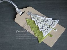Peaceful Pines, Perfect Pines framelits, Tags, Stampin' Up!, Yvonne Pree, 2015 Holiday Catalogue,Christmas 2015