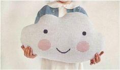 kokokoKIDS: Вязаные подушки-облака by ko-ko-ko Cloud Cushion, Cloud Pillow, Diy For Kids, Gifts For Kids, Pink Cheeks, Cool Kids Clothes, White Pillows, Soft Furnishings, Sewing Projects