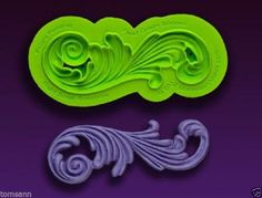 Marvelous Molds silicone scroll mold -Right Scroll Ensemble- fondant gum paste