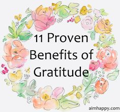 11 Proven Benefits of #Gratitude
